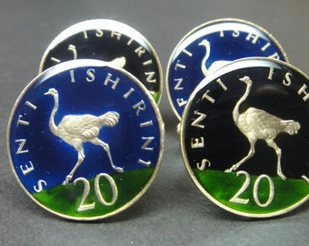 Tanzania coin cufflinks 24mm