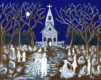 "Halloween cross stitch pattern ""Eternally Yours"""