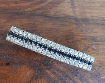 Vintage Rhinestone Hair Clip, Made in France