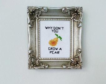 Why Don't You Grow A Pear - Orchard Counted Cross Stitch Pattern Download