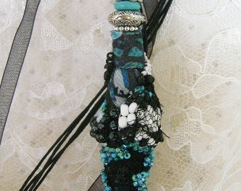 Fabric Beaded Bead Necklace