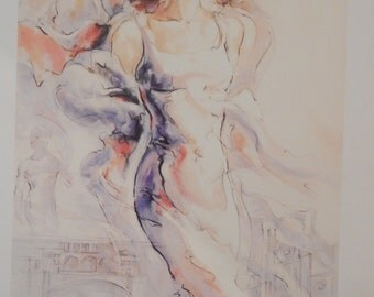 """Peter Nixon Seriolithograph - Unframed - """"Memories of Florence I"""""""