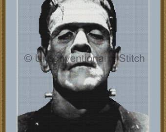 Frankenstein classic counted cross stitch pattern