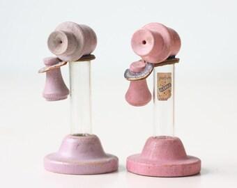 Vintage Perfume Bottles, Telephones, Pink and Purple, Florale Perfume