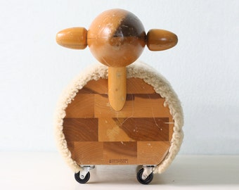 Vintage Wooden Sheep - Creative Playthings Ride On Toy Sheep