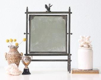 Vintage Mirror with Bird