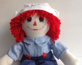 "Raggedy Andy Doll Handmade 20"""