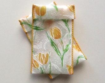 Jewelry Bead Pouches - 12 Yellow Tulip 2x4