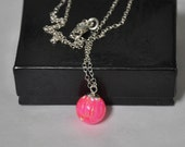 Pink Necklace, Opal Necklace, 10mm Opal ball pendant, Chain Necklace, Gemstone Necklace, Sterling Silver,  Australian Opal, Pink Opal