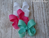3 Inch Toddler Bow Custom Color Bows 3 Inch Bow Baby Bows 3 Pack Toddler Bows You Choose Color