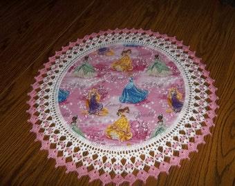 Crochet Doily Lace Disney Princess Cinderella Fabric Doily Best Doilies Crocheted Edging Home Decor Table Topper Handmade Centerpiece