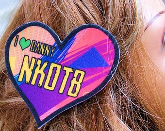 New Kids NKOTB I Love Danny Hair Clip MTCoffinz