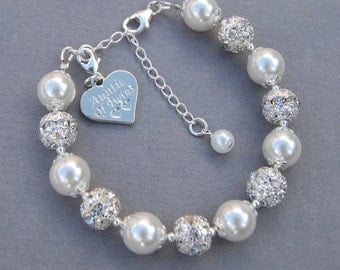 Auntie of Twins Gift, Aunt Bracelet, Aunt of Twins Charm Bracelet, Aunt Gift Idea, Under 50, Keepsake Charm, Family Bracelet