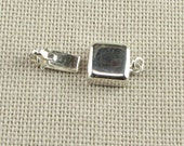 Bright and Shiny Square Sterling Silver Box Clasp Stamped 925 (1 piece)