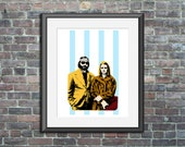 richie and margot art print - royal tenenbaums fan art wall decor home decor dorm room office art