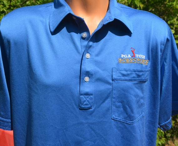 Vintage 70s Polo Golf Shirt Pga Tour Cbs Sports Tournament Xl