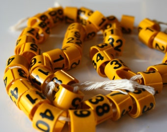CLEARANCE Little Yellow Plastic Numbers