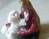 Custom Doll PET of your dog needle felted by Fiber Artist  GERRY / Custom Pet portrait / example Maltese