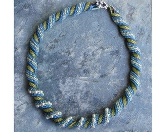 Aqua Cellini Spiral Necklace