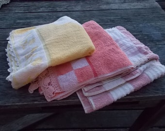 20s 30s BathTowel lot of 3 not perfect but Hard to Find Cannon Muscogee Terry