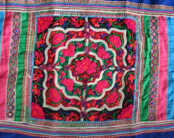 Textiles -  Hmong fabric / Hmong costume/ Miao fabric / Hmong embroidery panels - 1053