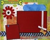 Premade Scrapbook Page - Puppy Love