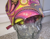 Tie Back Surgical Scrub Hat with Paisley Mod
