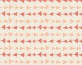 Arrow fabric, Boho fabric, Tribal fabric, Hello Bear fabric by Bonnie Christine for Art Gallery Fabrics- Follow Me in Peach, Choose the cut