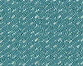 Hello Bear Arrow fabric by Bonnie Christine for Art Gallery Fabrics, Blue fabric, Adventure Springs, You choose the cut