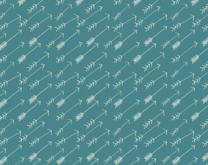 Hello Bear Arrow fabric by Bonnie Christine for Art Gallery Fabrics, Blue fabric, Adventure Springs, You choose the cut