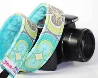 Camera Strap for DSLR - Teal Tomorrow with Teal Lining