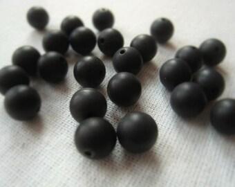 Gemstone Round 8mm Black Onyx Orb Parcel Item No. 5377