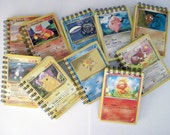 Mini Pokemon Notebook - Recycled Trading Cards