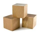 "40 pcs 1"" Craft Wood Cube Blocks"