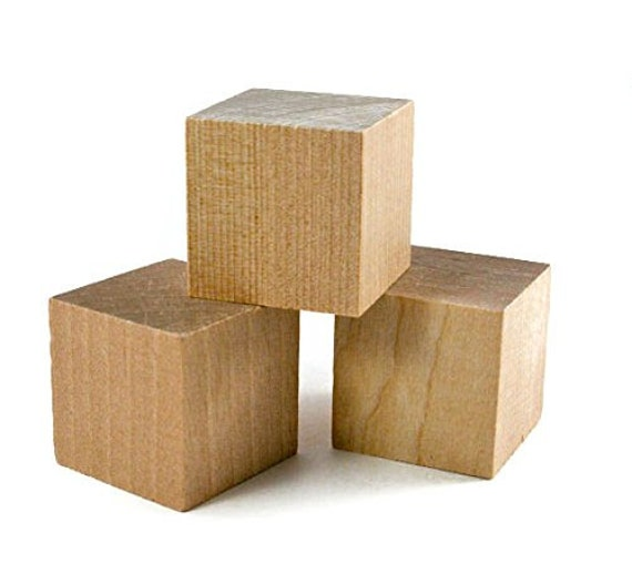16 pcs 1 5 craft wood cube blocks for Where to buy wood blocks for crafts