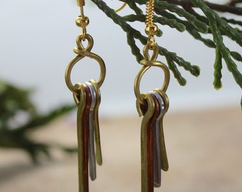 Recycled Wire Dangle Earrings