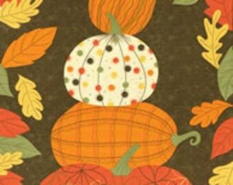 Oop Moda PUMPKINS GONE WILD! 17311-11 Sandy Gervais Quilt Panel Fabric