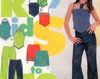 Easy Girls Summer Top Pants and Skirt Sewing pattern  Sizes 7 to 12 New Look 6098