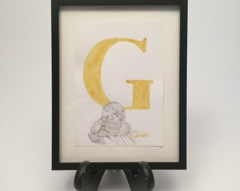 G is for Give by Brooke Rothshank -- FRAMED