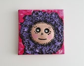 Miniature Monster Painting on Canvas