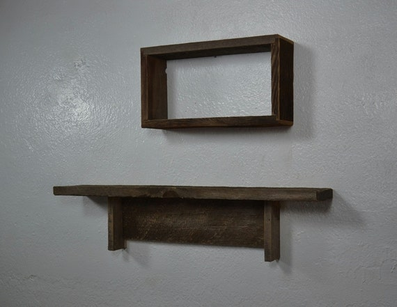 Wood Wall Shelves Primitive Or Rustic Style By Barnwood4u