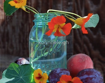 Blue Mason Jar Photo - Greeting Cards, you choose images