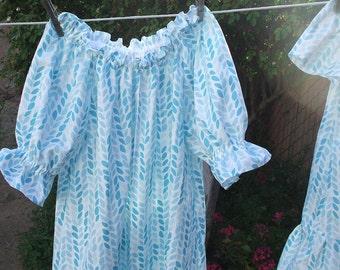 Prairie Nightgown Toddler Girls 4T-5T Organic Cotton Ruffles Ready Now