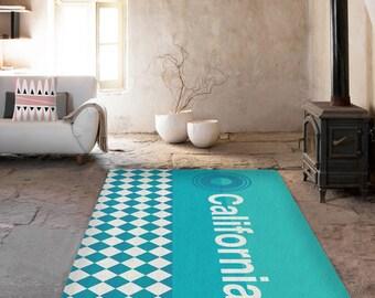 Rugs, California rug, Blue and white carpet, Decorative Rug, American carpet, area rug, living room decor, modern decor, modern area rug