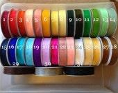"65% OFF-- 5/8"" Sheer Organza Ribbon--FULL ROLL--25 yards--You Choose Color"