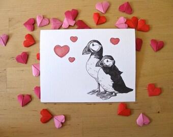 Puffins Card