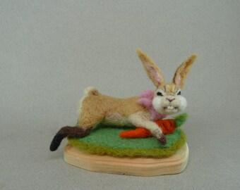 Needle felting female bunny made to order