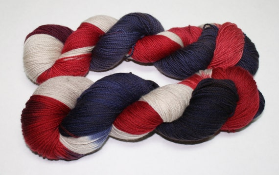 Americana Hand Dyed Sock Yarn