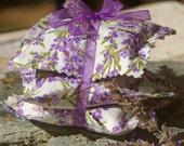 Lavender Sachets, Set of 3 - Shabby Chic, Thank You Gift, Teacher Gift, Party Favor, Bridal Shower, Wedding, Baby Shower, Lavender