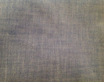 8 Yards of Vintage Blue Cotton Fabric